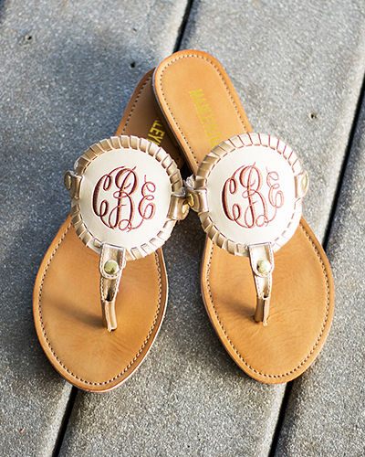 Embroidered Sandals Set