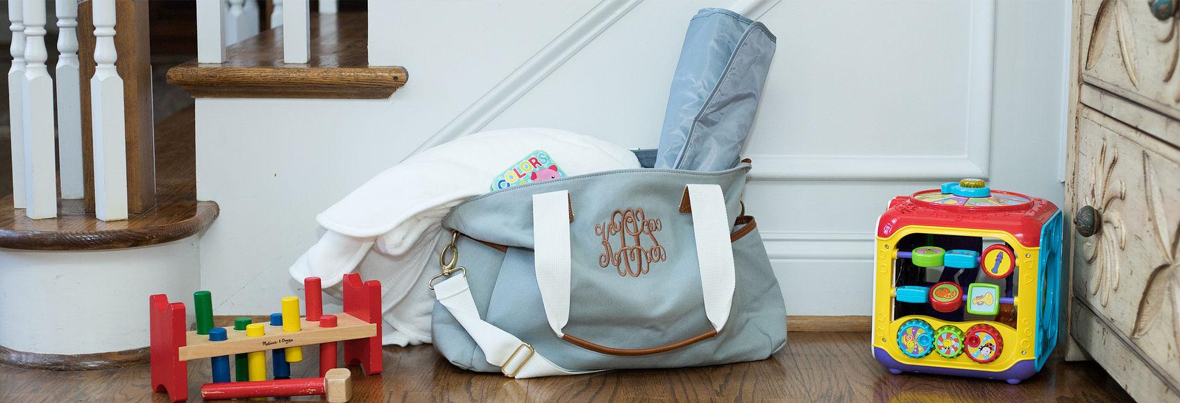 Monogrammed Diaper Bags