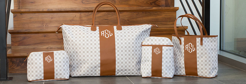 Monogrammed Checkered Collection