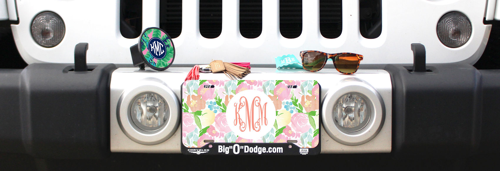 Monogrammed Car Accessories