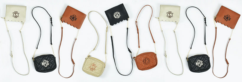 Monogrammed Clutches and Personalized Bags