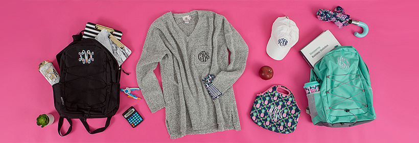 Back To School Monogrammed Gifts