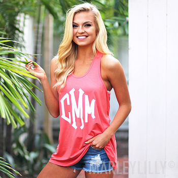personalized summer tank top