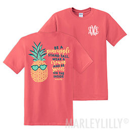 Monogrammed t shirts marleylilly monogram pocket for Initials on dress shirts