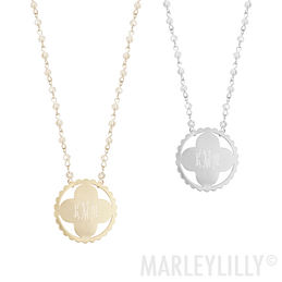 Monogram necklace marleylilly 2999 2999 monogrammed long pendant necklace aloadofball Images
