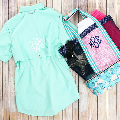 Monogrammed Beach Cooler Tote