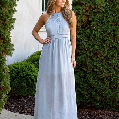 Dusty Miller Maxi Dress