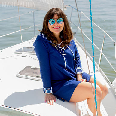 Monogrammed Hooded Cover Up
