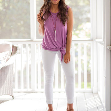 Traveler Top in Lilac